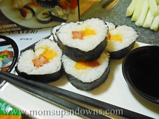 heart-shaped sushi