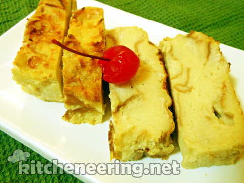 cheesy bread pudding